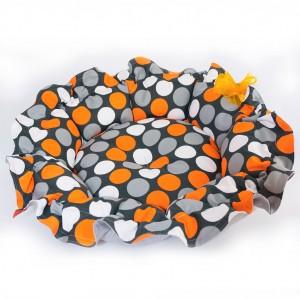 Pet bed ONDI – Oragne dots