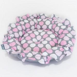 Pet bed ONDI – Pink dots