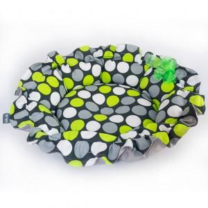 Pet bed ONDI – green dots