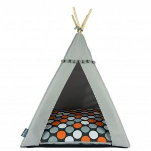 Pet bed TIPI bed – Orange dots