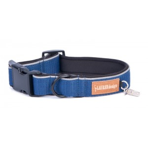 Collar for dog blue