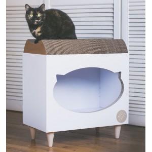 TV Cat cardboard scratcher
