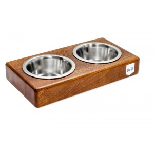DUO amber dog bowl