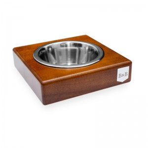 SOLO amber dog bowl