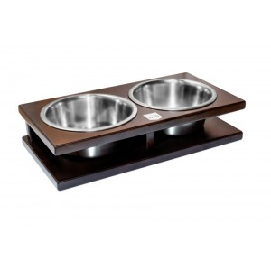 GRANDE chestnut dog bowl