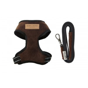 Dog harness CANDY brown