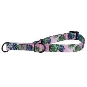 Clamp collar PINK MONSTERA