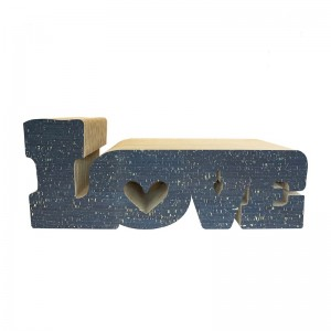 Cat scratcher LOVE navy blue