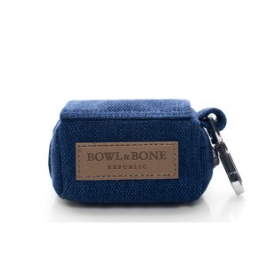 Dog waste bag holder MINI navy