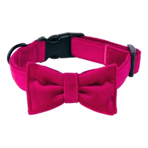 Bow tie for dog respberry red