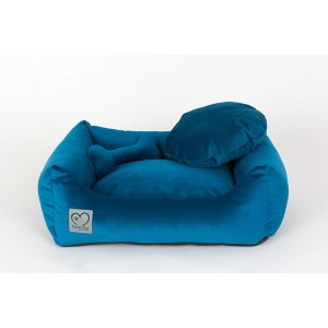 Pet bed Luxury Petrol Blue