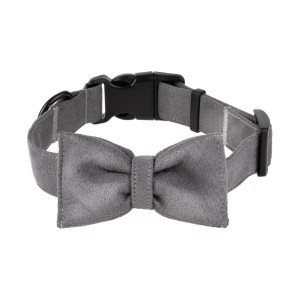 Bow tie for dog grey