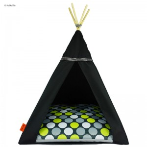 TIPI bed Glamour – Green dots