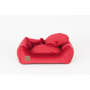 Pet bed Luxury Royal red