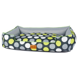 Pet bed BOO - Green dots