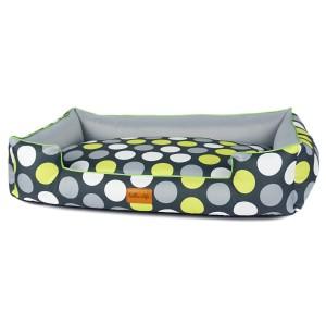 Pet bed BOO - Green dots