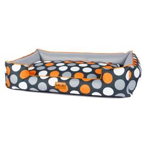 Pet bed BOO - Orange dots
