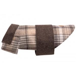 Tweed dog coat LEAF brown