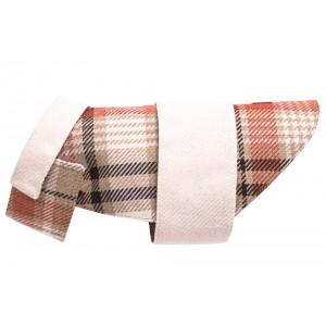 Tweed dog coat LEAF orange