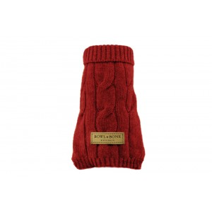Dog sweater ASPEN red