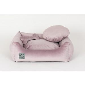 Orthopedic pet bed Luxury Pink